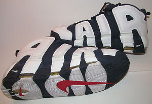 2012 Nike Air UPTEMPO 1 MAX SCOTTIE PIPPEN USA OLYMPIC WHITE BLUE GOLD DS 13
