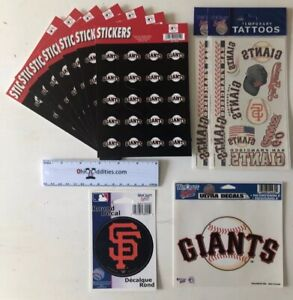 MLB-San-Francisco-Giants-Super-Fan-Pack-162-Stickers-amp-Temporary-Tattoos-NEW