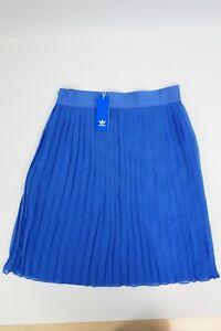 new styles 0547d 3bf6d Details zu Adidas Faltenrock Blau NEU Gr. 42 Skirt Damen Freizeit OE W Rock  Knielang #390