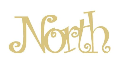 Word North Cutout Unfinished MDF Wood Door Hanger Holiday Christmas Style 1