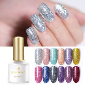Born Pretty 6ml Glitter Soak Off Uv Gel Nail Polish Silver Sequin