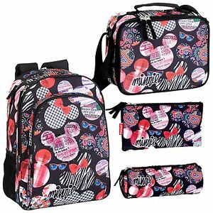 436dd2f6dd9 Image is loading Minnie-Mouse-Backpack-School-Travel-Large-Rucksack-Lunch-