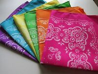 12 Neon Print Polyester Bandannas Bandanas Party Supplies Free S/h Scarf Wrap