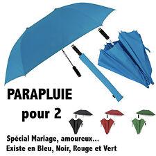 PARAPLUIE DUO DOUBLE pour 2 personnes Mariage Saint-Valentin Modèle VERT 90X124