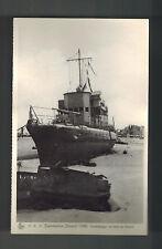 1940 WW2 Mint RPPC Postcard BAttle Dunkirk British Navy Beached Torpedoboat Tank