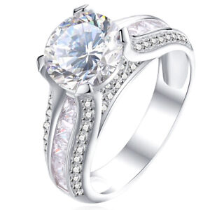 Wedding-Engagement-Ring-For-Women-Round-White-Cz-925-Sterling-Silver-Size-5-12