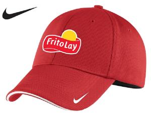 48697baeb2f78 Details about Frito Lay Nike Golf - Dri-FIT Mesh Swoosh Flex Sandwich Cap  (Red) MD/LG *NEW