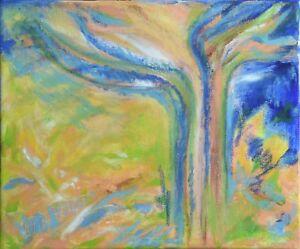 Art-abstrait-Peinture-sur-toile-Paysage-Nature-signe-HZEN-034-UN-ARBRE-AU-SUD-034