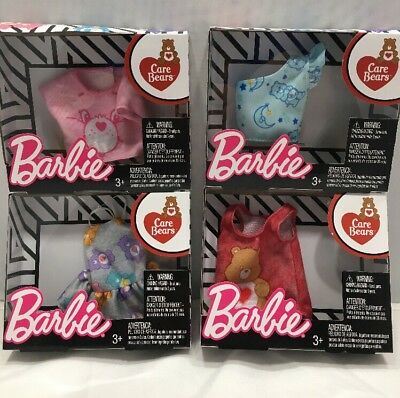 New Mattel Barbie Clothing and Accessories Care Bears