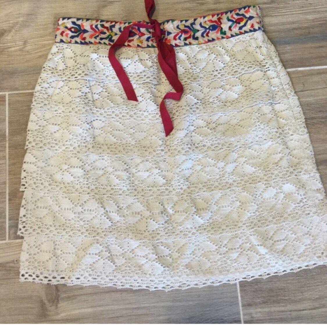 Anthropologie Anna Sui Embroidered Skirt Xs Euc Oaxaca