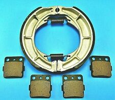 NEW SUZUKI EIGER 400 LTF400F 4x4 2002-05 BONDED FRONT PADS /& REAR BRAKE SHOES