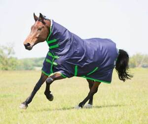 Combo Turnout Rug - Navy/Green