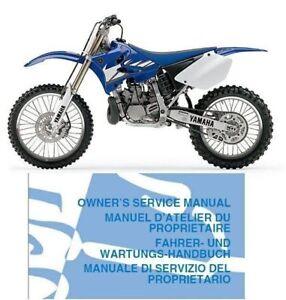 2001 2007 Yamaha Yz250 Service Repair Workshop Owner S Manual Cd Yz 250 Ebay