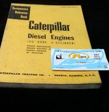 Caterpillar Diesel Engine 5 34 Bore 4 Cyl Servicemens Reference Book