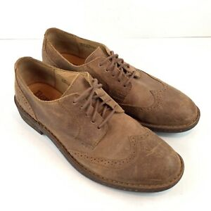 BORN-Men-s-Size-10-Shoes-Lace-Up-Oxfords-Brown-Leather-Distressed-Brogue