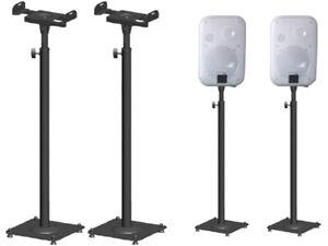 2-Stueck-Boxenstaender-Metall-Lautsprecher-Stativ-Lautsprecher-Staender-BS16Bx2