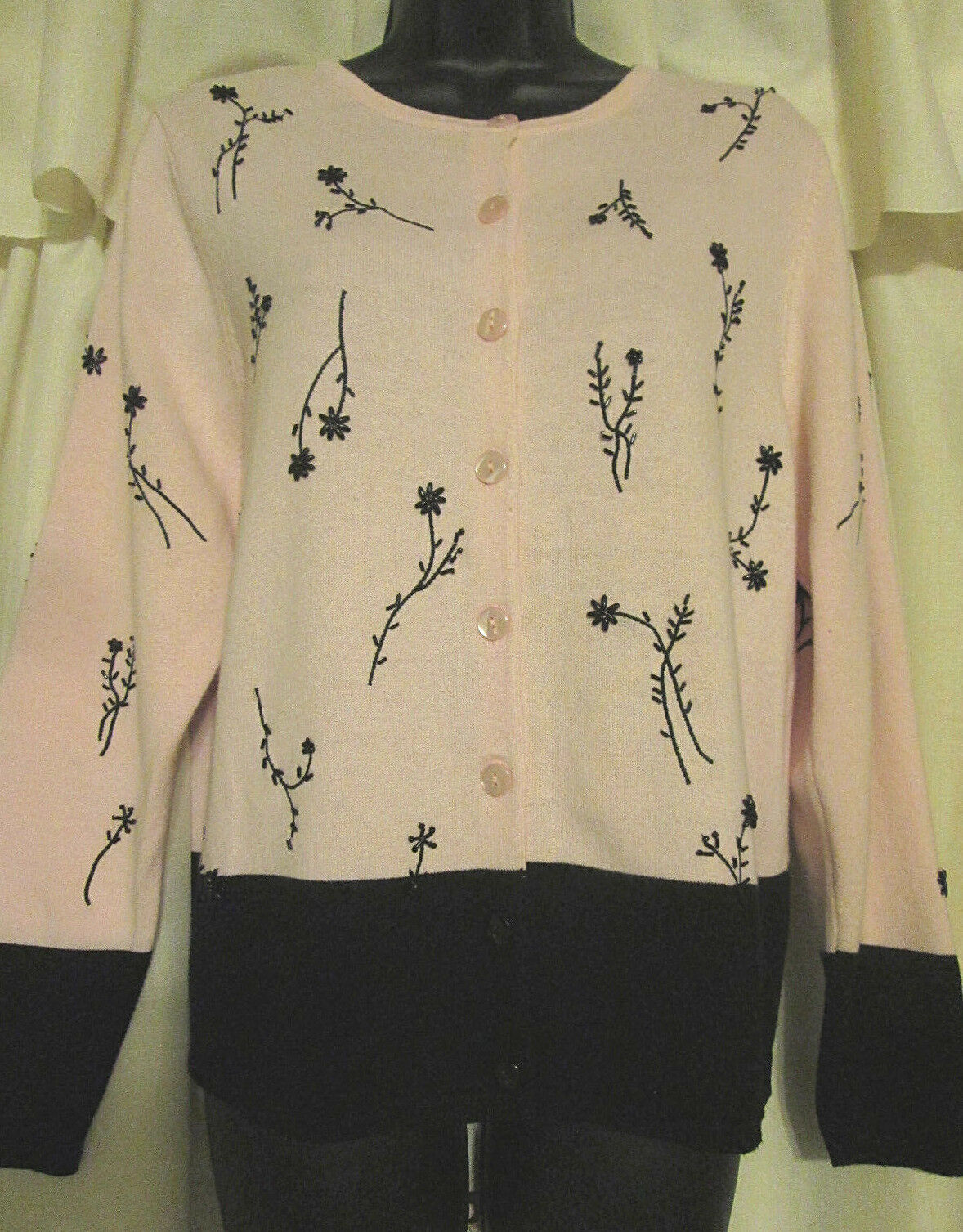 Dressbarn Button Up S Cottagecore Embroidered Sw… - image 4