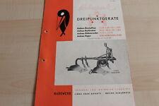 144642) Rabewerk Dreipunkt Anbau-Beetpflüge Prospekt 08/1956