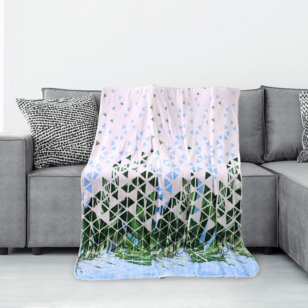 Zöllner Jersey Kuscheldecke Schmusedecke Decke 70x100 cm Triangel blue NEU