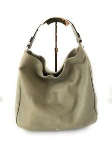 Image is loading Authentic-Mulberry-Hobo-Khaki-Leather-Tote-Shoulder-Bag e41c17875f