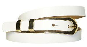Fronhofer-Stretto-Cintura-Donna-Vero-Cuoio-1-6-cm-Dorato-Fibbia-amp-Metallo