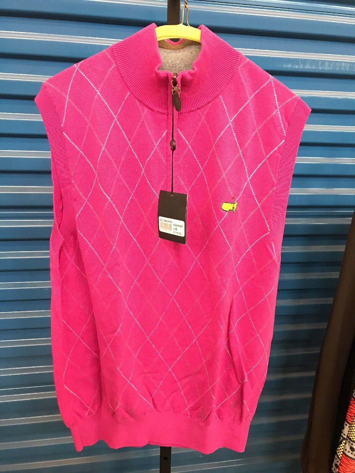 Rasberry Master's LG zipper Vest NWT