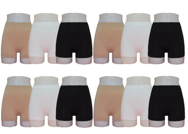 6 – 12 Damen Pantys Hotpants Slips Pants Schlüpfer Hoch Microfaser M L XL XXL