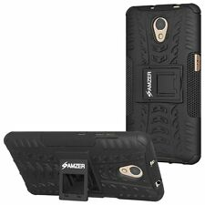 AMZER Rugged Dual Layer Hybrid Warrior Case w/ Stand For Lenovo Vibe P2 - Black
