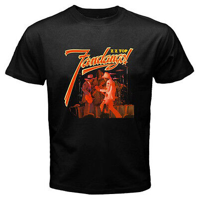 New ZZ TOP FANDANGO Rock Music Legend Men's Black T-Shirt Size S M L XL 2XL 3XL