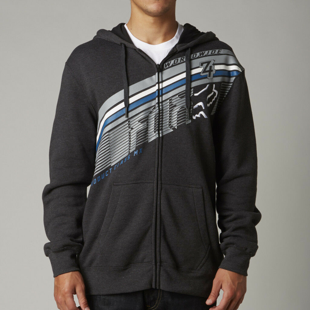 Fox Racing Conclusion Zip Up Hoody Charcoal Heather