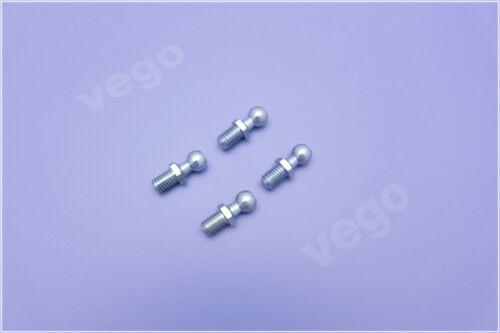 4x original vego amortiguador kugelzapfen panoramicas bala pivotes cabeza m8 10 mm nuevo
