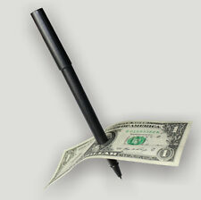 NEW Close Up Magic Pen Penetration Through Paper Dollar Bill Money Party Trick