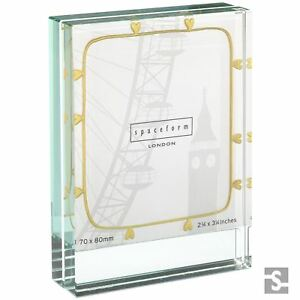c4e5a0519c6f Image is loading Spaceform-Glass-Gold-Hearts-Small-Picture-Photo-Frame-