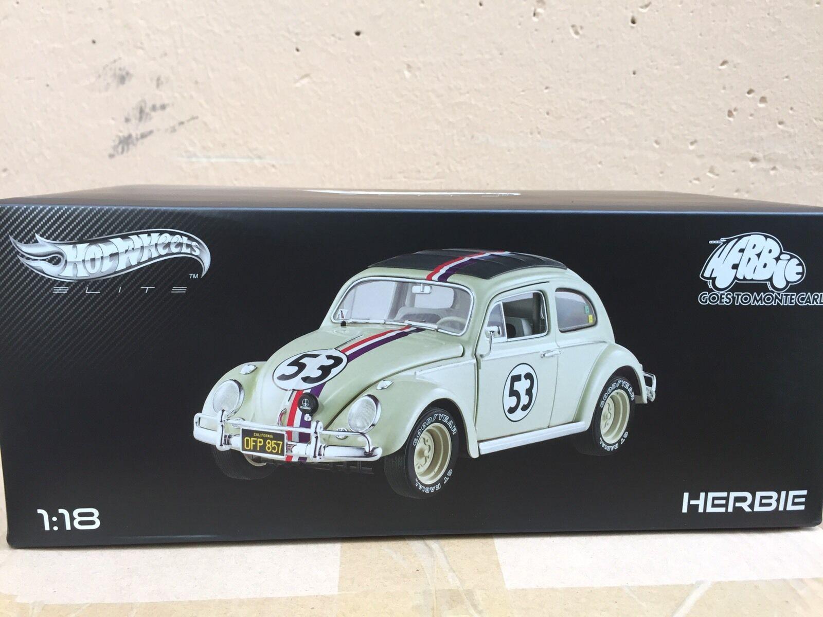 Volkswagen Herbie Monte Carlo Movie Hotwheels Elite 1 18  BLY22