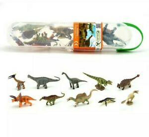 Breyer-By-CollectA-Box-of-Miniature-Small-Dinosaurs-10-Kinds-Carry-Case
