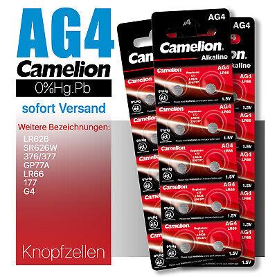 AG4 Camelion Knopfzelle Zelle Knopfbatterie Batterie LR626 ...
