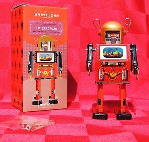 Jouet-de-l-039-Espace-TV-SPACEMAN-modele-rouge-Hauteur-15-cm-St-John-ETAT-NEUF