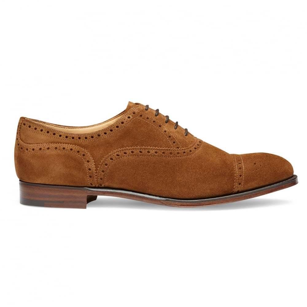 De hombre hecho a Mano Camello Gamuza, Whit Clásico Puntera Zapatos Brogue Oxford punta del ala