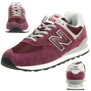 new balance ml574 burgundy