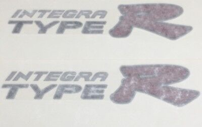 OEM Honda 94-01 Acura Integra DC2 Type R Side Decals JDM Black Outlining