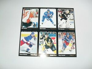 1993-94-Pinnacle-Hockey-Card-Promo-Panel-Uncut-Sheet-Lindros-Sundin-Selenne