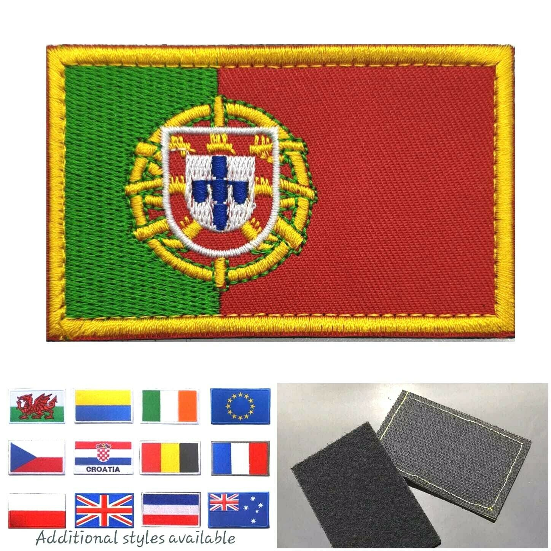 Portuguese Flag Small Iron On// Sew On Patch Badge PORTUGAL bandeira portuguesa