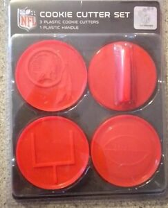 14c879c7 Details about NFL Washington Redskins Officially Licensed Cookie Cutter Set  Tailgate Party