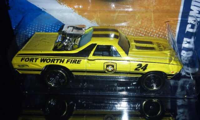 HOT WHEELS 2011 MAIN STREET  '68 EL CAMINO  (YELLOW)