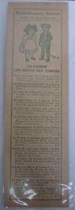 Antique-Brand-Pages-Bookmark-Advertising-Literature-Guerre-14-18-Shepherd-Return