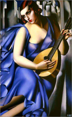 Quadro su pannello in legno MDF Tamara De Lempika The The Lempika musician c98fb3