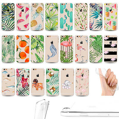 Tropical Banana Leaves Pineapple Ultra-thin Clear Case For iPhone SE 5S 6 S Plus