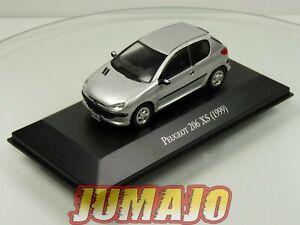 ARG60-Voiture-1-43-SALVAT-Autos-Inolvidables-PEUGEOT-206-XS-1999-3-Portes