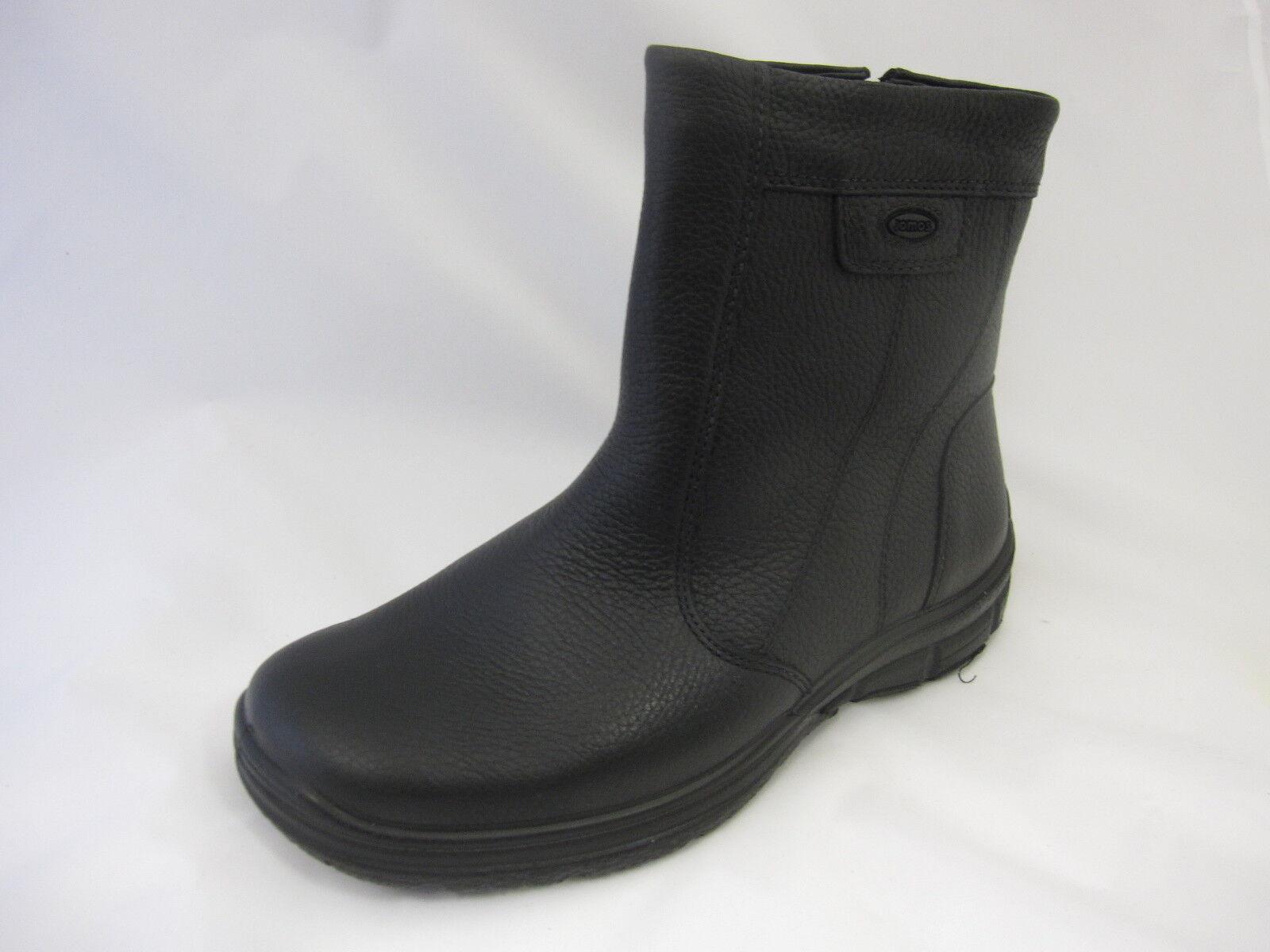 Jomos Winterstiefel, schwarz echt echt Leder, echt schwarz Lammfellfutter, Reißverschluss fc3493