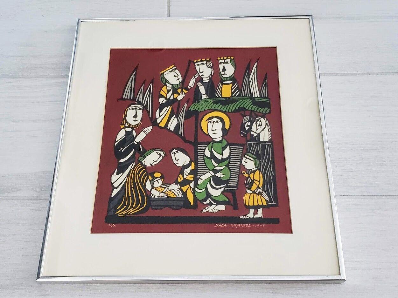 1979 Sadao Watanabe Ltd Ed 70/80 The Nativity Print Framed on eBay thumbnail